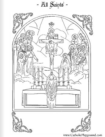 All Saints Coloring Page November 1st Catholic Playground St Coloring Page Catholic