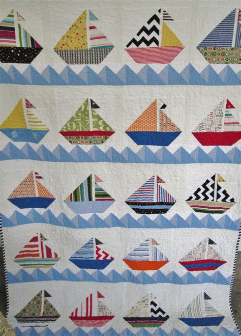 boat bed patterns sailboat quilt nautical cottage quilt lake house quilt