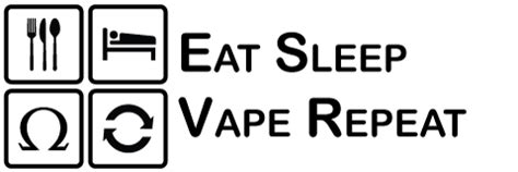 Kaos Eat Sleep Vape Repeat1 1 eat sleep vape repeat e liquid reviews by fanboy