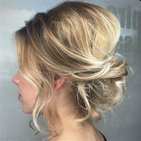 messy updo for thin hair 60 trendiest updos for medium length hair messy updo and