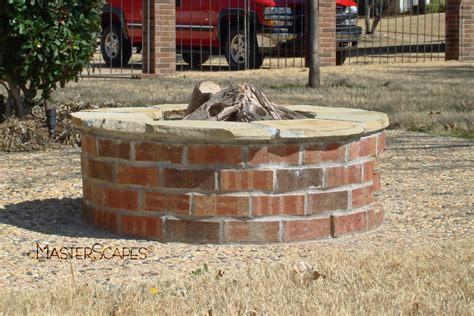 backyard brick fire pit improbable brick fire pit pictures garden landscape