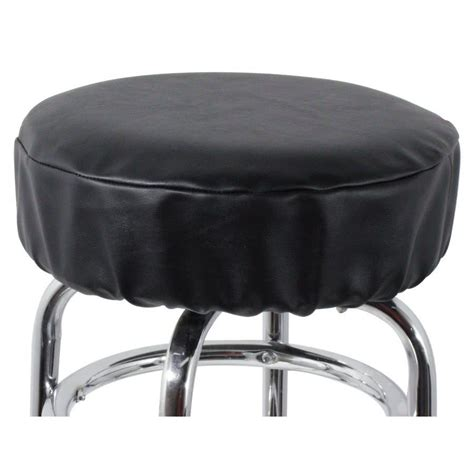 Bar Stool Seat Covers 14 Quot Black Vinyl Bar Stool Seat Cover