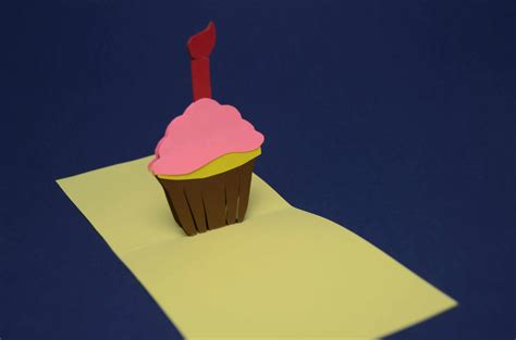 pop up cupcake card template pop up cupcake card template images