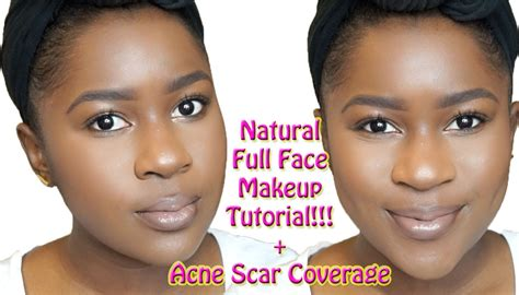 natural makeup tutorial acne natural full face makeup tutorial for brown skin acne scar