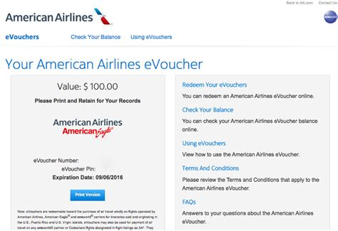 American Airlines E Gift Card - american airline gift card purchase infocard co