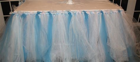 cheap blue white tulle table skirt fabric table skirts