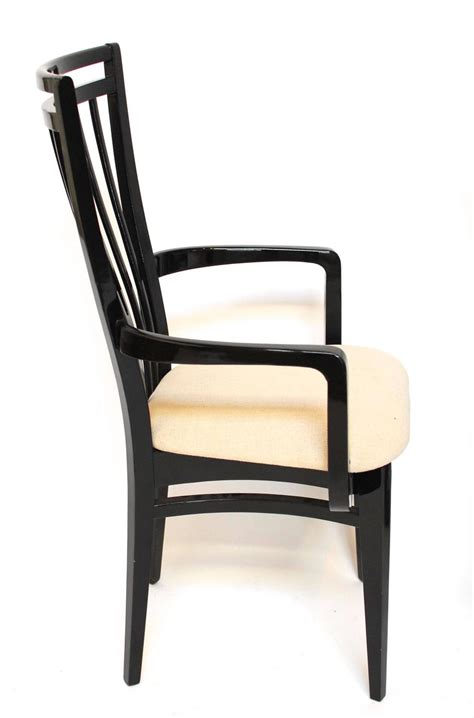 Italian Black Lacquer Dining Chairs For Sale At 1stdibs Black Dining Chairs For Sale