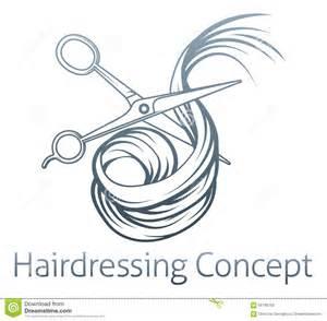 ciseaux de coiffeurs coupant des cheveux illustration de
