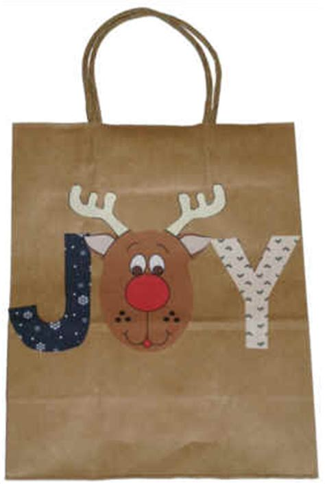 decorated brown paper christmas bags