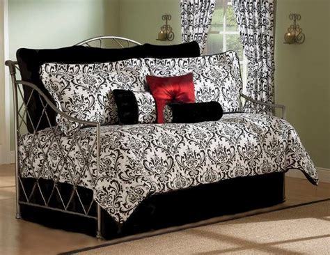 Black And White Daybed Bedding Sets Black And White Daybed Bedding Sets Astor Black White Damask Daybed Bedding Comforter Set 4 Pc