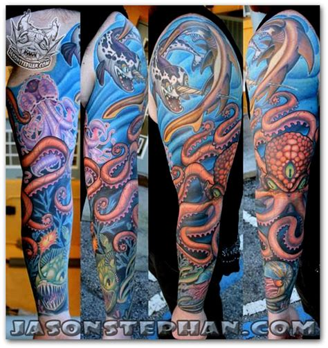 ocean sleeve tattoo designs amazing ideas sleeve