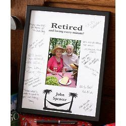 Picture Frame Signature Mat by Personalized Retirement Signature Mat Frame Findgift