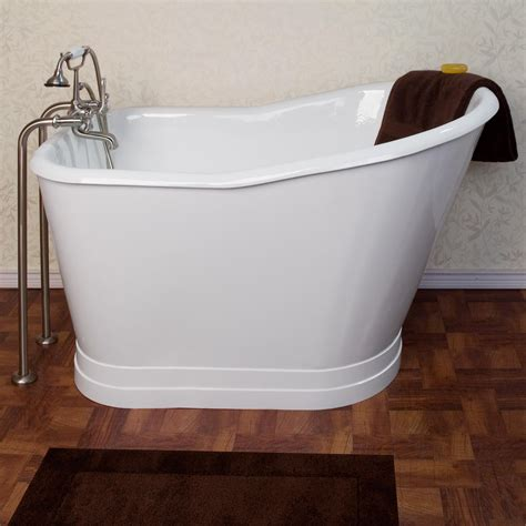 52 quot winton cast iron skirted slipper tub no overflow