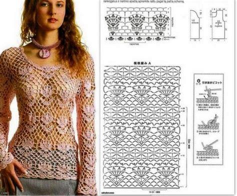 ver a travs de la blusa ganchillo blusa patrones tallas grandes de 25 blusas en crochet con patrones manualidades y