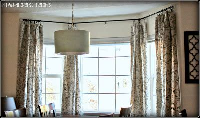 from gardners 2 bergers diy curtain rods sliding glass door bay window
