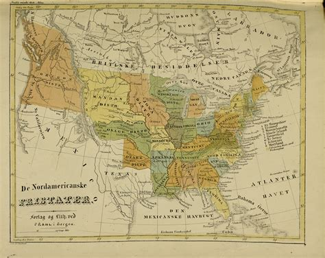 map of the united states in 1840 map of the united states published in norway cirka 1840