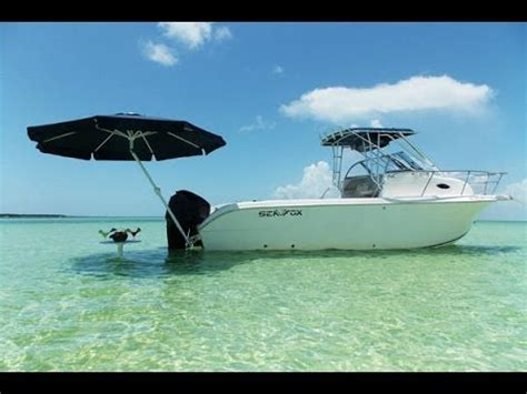 boat sun umbrella how to set up umbrellas 4 boats youtube
