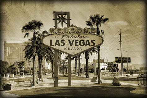 imagenes vintage sepia welcome to las vegas series sepia grunge photograph by