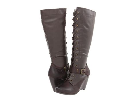 bare traps s boots bare traps shoes 039 s darleen knee hi wedge boots