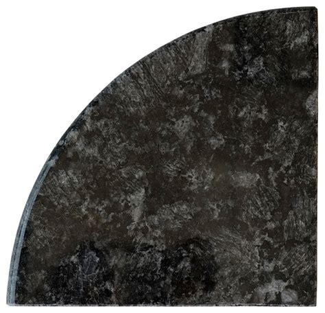 black granite both side polished bathroom corner shelf 9x9