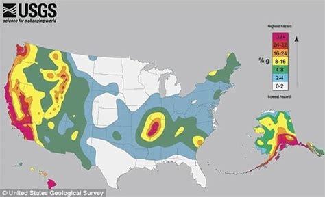 earthquake zones in the us u s earthquake zones