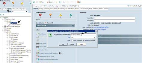 service profile template ccie dc ucs associating service profile with server blades