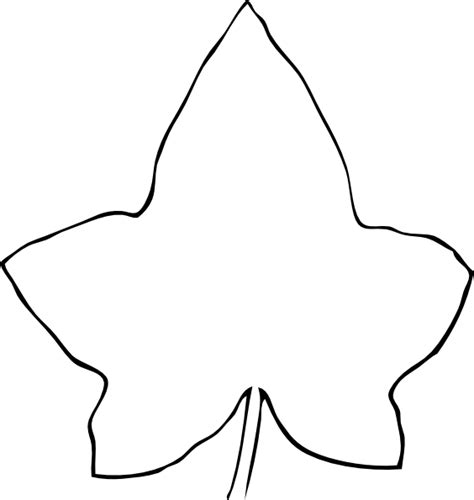 Simple Leaf Template by Simple Leaf Template Clipart Best