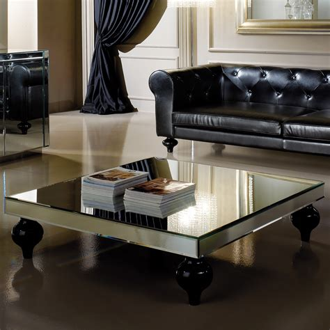 mirrored bench designer square mirrored coffee table juliettes interiors