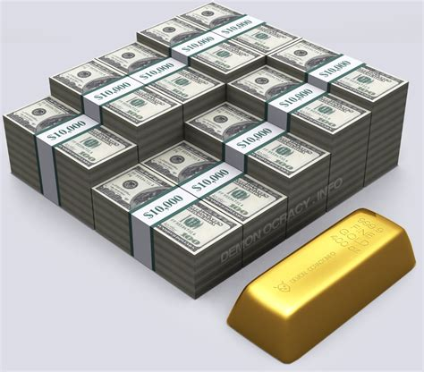 How To Make A Gold Bar Out Of Paper - gold visualized in bullion bars