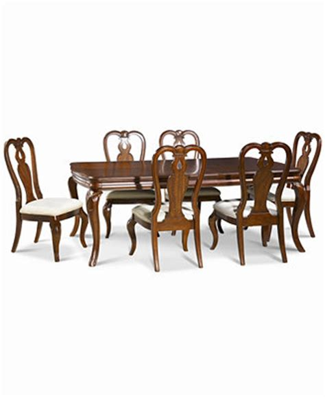 queen anne dining room sets bordeaux 7 pc dining room set table 6 queen anne side