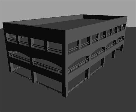 3d garage 3d model parking garage