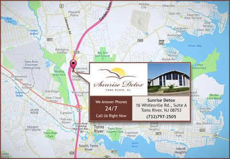 Detox Center Toms River Nj by Directions To Toms River Treatment Center