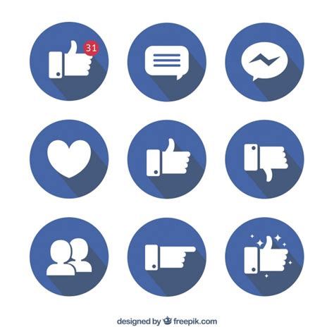 facebook layout free vector facebook icon collection in flat design vector free download