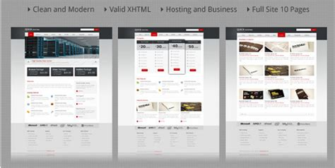 20 beautiful html templates for web hosting sites
