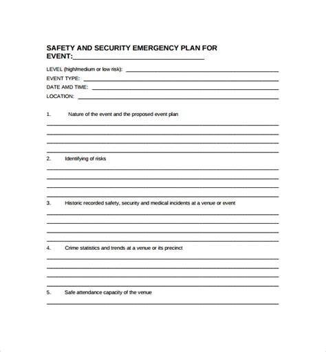 Sle Security Plan Template 10 Free Documents In Pdf Word Security Business Template