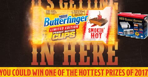 Butterfinger Sweepstakes 2017 - butterfinger smokin hot instant win giveaway 238 winners win a nintendo nes classic