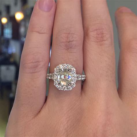 Orange Sapphire 6 30ct henri daussi engagement rings 1 30ct cushion cut