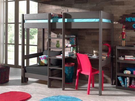 bureau 騁ag鑽e conforama lit mezzanine en pin massif pino avec bureau et couchage d