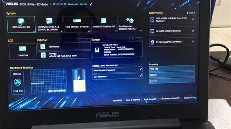 Asus Laptop Enable Bios new look of asus a456u bios