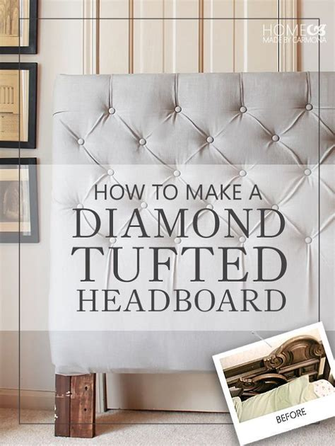 diy diamond tufted headboard 25 best ideas about white tufted headboards on pinterest