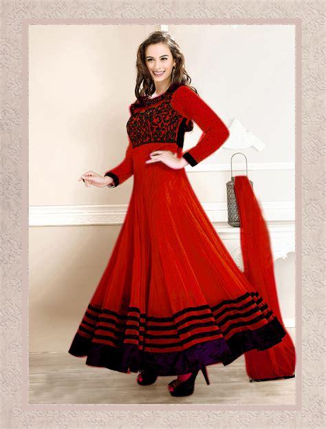 Latest Anarkali Dress Craftsvilla | buy thankar latest designer heavy red embroidery anarkali