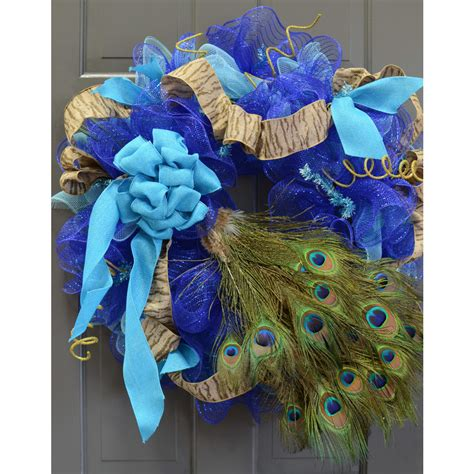 24 quot peacock feather spray mj0137 craftoutlet com