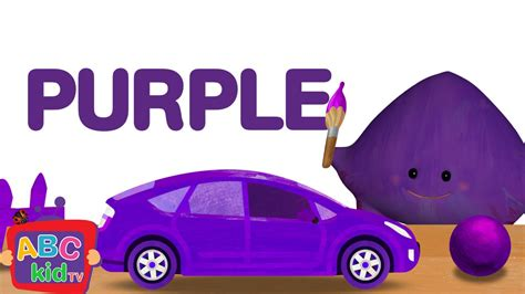 color purple songs color song purple cocomelon abckidtv nursery rhymes