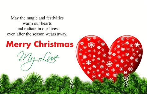cute romantic merry christmas love quotes special messages images