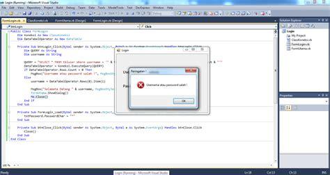 membuat database untuk visual basic membuat form login dengan visual studio 2010 visual basic