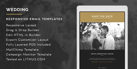 Top 10 Responsive Email Templates For Business Enhancement Exeideas Let S Your Mind Rock Wedding Photography Email Templates