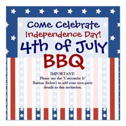 patriotic stripes 4th of july invitations