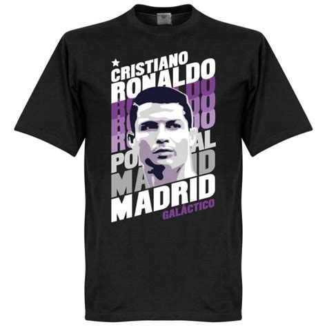 Tshirt Ronaldo Black ronaldo madrid portrait t shirt black