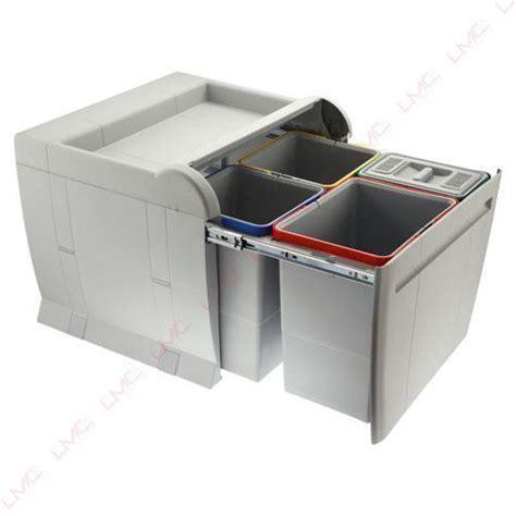 poubelle de cuisine tri s駘ectif 2 bacs poubelles 224 tri s 233 lectif de cuisine coulissante ou en inox
