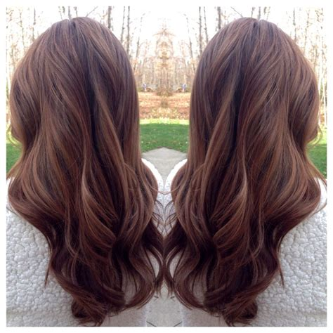 Warm Color Hair Highlight Palette | hilight on dark hair soft curls on warm brown hair great